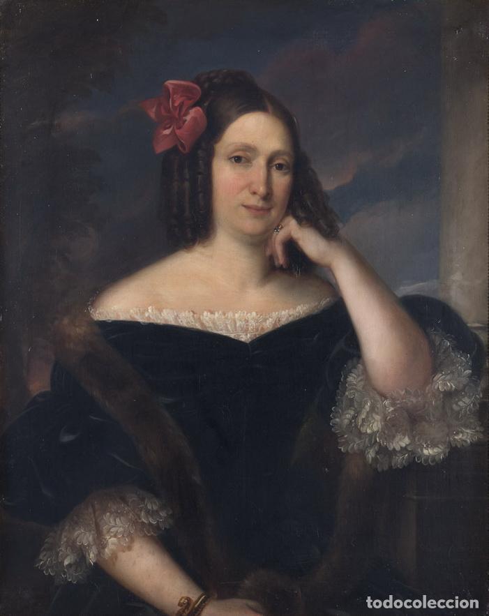 Arte: CARDERERA Y SOLANO, VALENTÍN (1796-1880) RETRATOS DE LOS MARQUESES DE MALPICA (FERNÁNDEZ DE CÓRDOBA) - Foto 9 - 212918238