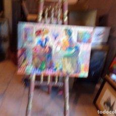 Arte: OLEO TECNICA MIXTA SOBRE TELA LAS MENINAS. Lote 213598008