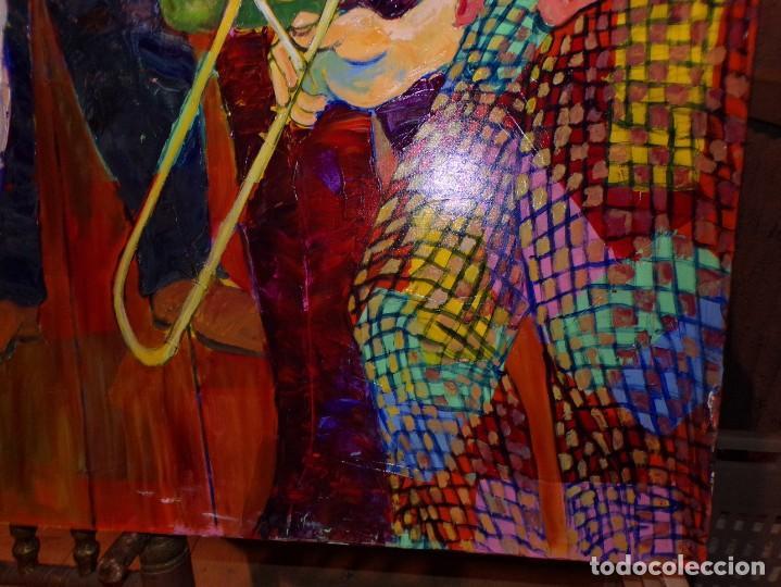 Arte: oleo tecnica mixta sobre tela gran medida banda de jazz - Foto 5 - 213632161