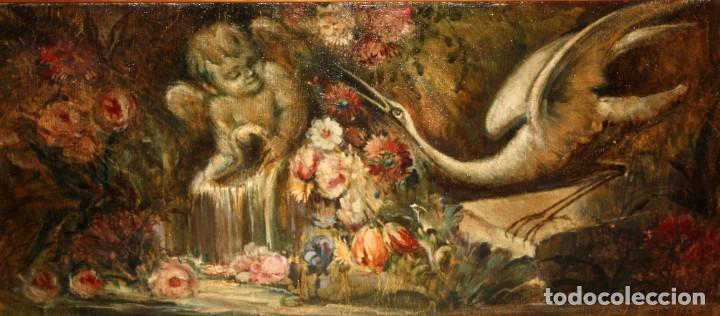 ESCUELA VALENCIANA DE AUTOR ANONIMO. OLEO SOBRE TELA DE APROX. 1900. COMPOSICION (Arte - Pintura - Pintura al Óleo Contemporánea )