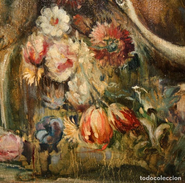 Arte: ESCUELA VALENCIANA DE AUTOR ANONIMO. OLEO SOBRE TELA DE APROX. 1900. COMPOSICION - Foto 8 - 213757093