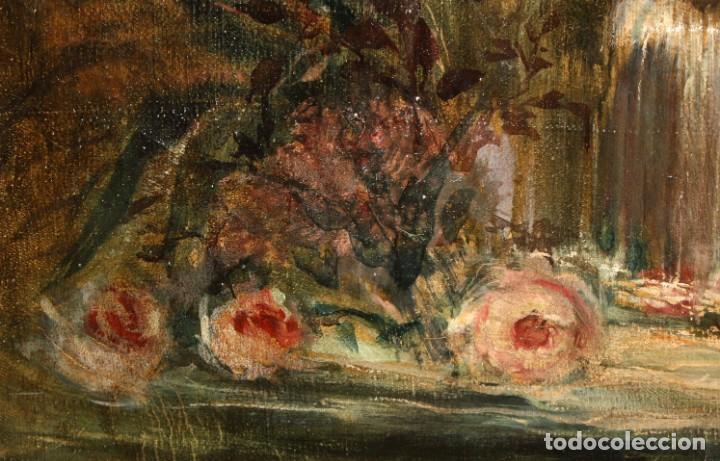 Arte: ESCUELA VALENCIANA DE AUTOR ANONIMO. OLEO SOBRE TELA DE APROX. 1900. COMPOSICION - Foto 9 - 213757093