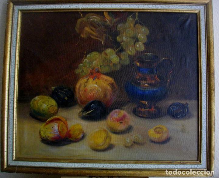 Arte: pintura al oleo firmada ( GARCES ) J, M, GARCES de MARCILLA 1880- 1932 ( 52 X 45 CTMS - Foto 3 - 213912271
