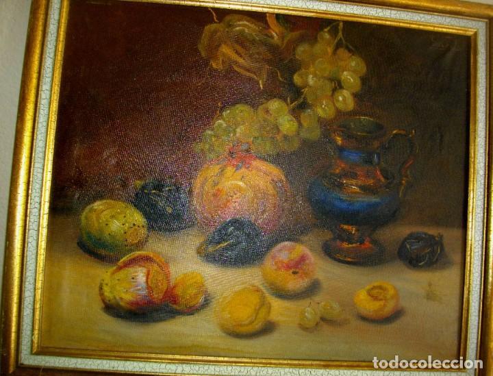 Arte: pintura al oleo firmada ( GARCES ) J, M, GARCES de MARCILLA 1880- 1932 ( 52 X 45 CTMS - Foto 4 - 213912271