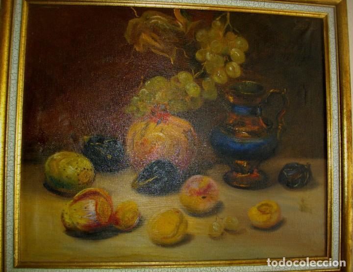 Arte: pintura al oleo firmada ( GARCES ) J, M, GARCES de MARCILLA 1880- 1932 ( 52 X 45 CTMS - Foto 5 - 213912271