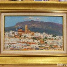 Arte: OLEO DEL PINTOR ALICANTINO JOSE FERRI CON MARCO DE LA LOCALIDAD DE ALTEA SE MANDA CERTIFICADO. Lote 214031916