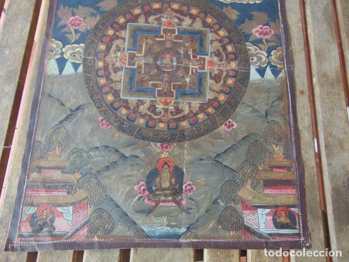 Arte: PINTURA OLEO O SIMILAR ORIENTAL PARAÍSO HINDÚ ?? CHINA ?? INDIA ?? SOBRE LIENZO FINO SELLADO - Foto 12 - 214109280