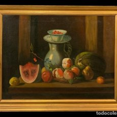 Arte: MAGIFICO BODEGON ESC ESPAÑOLA S. XVIII-XIX. Lote 214273708