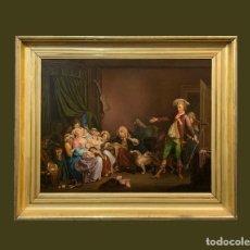 Arte: PAREJA DE ESCENAS INGLESAS SEGUIDOR DE HOGART. Lote 214291083