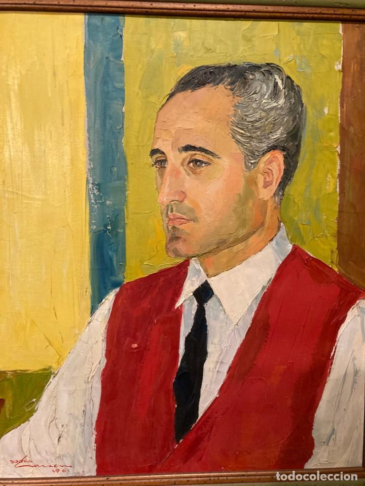 Arte: Retrato de hombre por Bjørg Larsen (1919-2003) - Foto 2 - 214310273