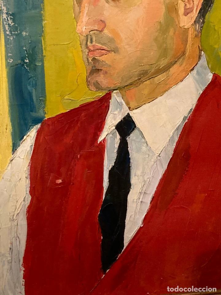 Arte: Retrato de hombre por Bjørg Larsen (1919-2003) - Foto 6 - 214310273