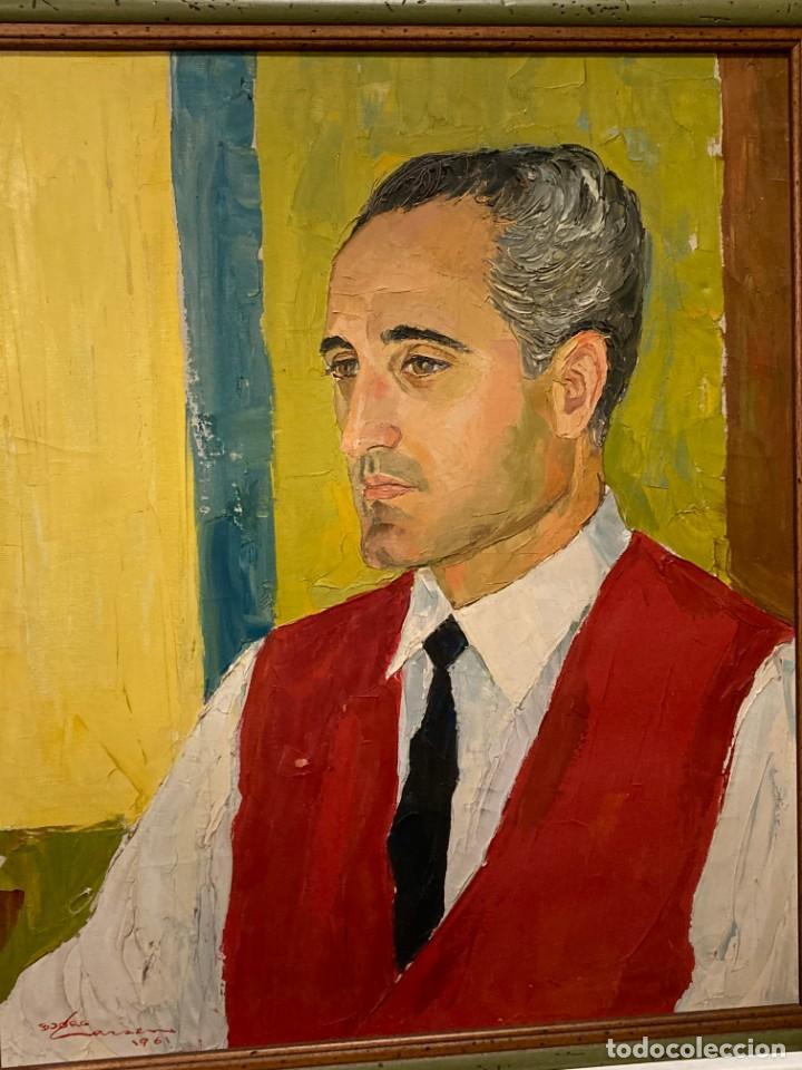 Arte: Retrato de hombre por Bjørg Larsen (1919-2003) - Foto 8 - 214310273