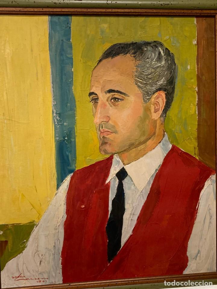 Arte: Retrato de hombre por Bjørg Larsen (1919-2003) - Foto 9 - 214310273