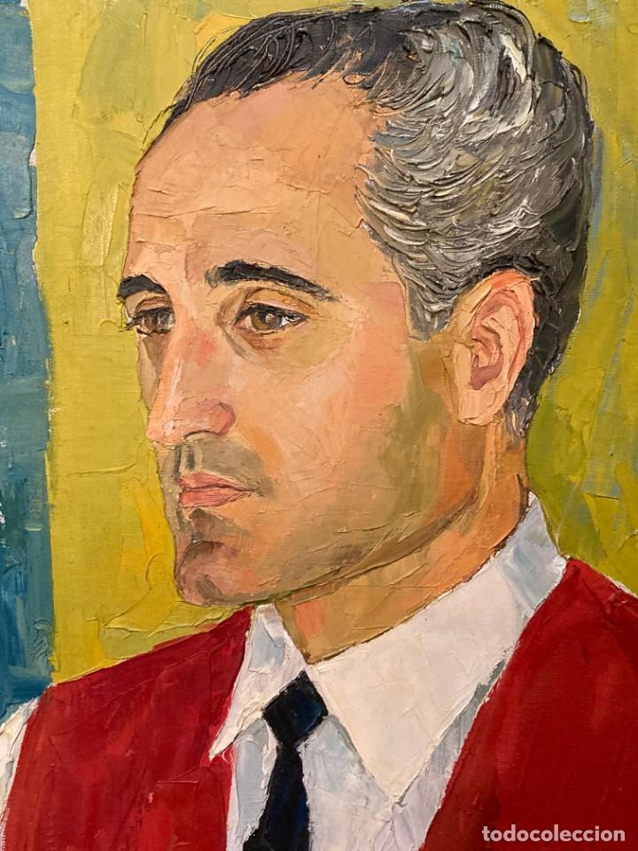 Arte: Retrato de hombre por Bjørg Larsen (1919-2003) - Foto 10 - 214310273