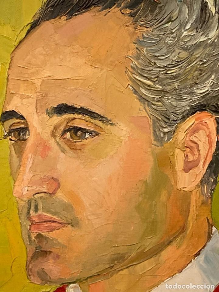 Arte: Retrato de hombre por Bjørg Larsen (1919-2003) - Foto 11 - 214310273