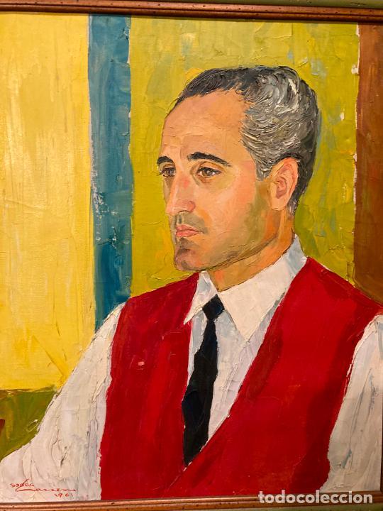 RETRATO DE HOMBRE POR BJØRG LARSEN (1919-2003) (Arte - Pintura - Pintura al Óleo Contemporánea )