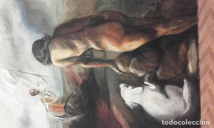 Arte: Alegoría Barroca / óleo sobre lienzo / grandes dimensiones: 130 x 89 cms - Foto 2 - 214352060