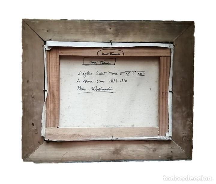 Arte: PINTOR HENRI FRANDO - ÓLEO IGLÉSIA SAINT PIERRE MONTMATRÉ - Foto 7 - 214354613