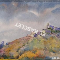 Arte: PINTURA ACUARELA - CASTELL - CASTILLO - JOSEP MARFA GUARRO DE BCN - SPAIN -. Lote 214367907