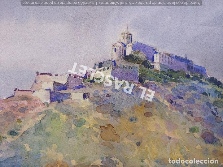 Arte: PINTURA ACUARELA - CASTELL - CASTILLO - JOSEP MARFA GUARRO DE BCN - SPAIN - - Foto 5 - 214367907