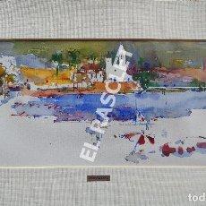 Arte: PINTURA ACUARELA - SITGES - JOSEP MARFA GUARRO DE BCN - SPAIN -. Lote 214368157