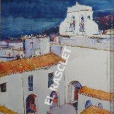 Arte: PINTURA ACUARELA - SANT ANTONIO - IBIZA - JOSEP MARFA GUARRO DE BCN - SPAIN -. Lote 214368385