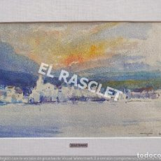 Arte: PINTURA ACURELA DE - CADAQUES - JOSEP MARFA GUARRO DE BCN - SPAIN -. Lote 214370455