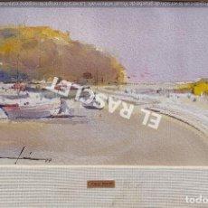 Arte: PINTURA ACURELA DE - PORT DE LLANÇA - JOSEP MARFA GUARRO DE BCN - SPAIN -. Lote 214370678