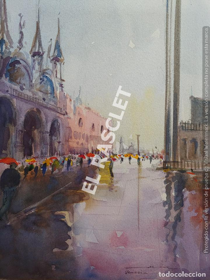 PINTURA ACURELA DE - VENEZIA - JOSEP MARFA GUARRO DE BCN - SPAIN - (Arte - Pintura Directa del Autor)