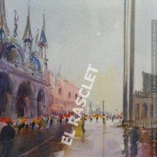 Arte: PINTURA ACURELA DE - VENEZIA - JOSEP MARFA GUARRO DE BCN - SPAIN -. Lote 214370896