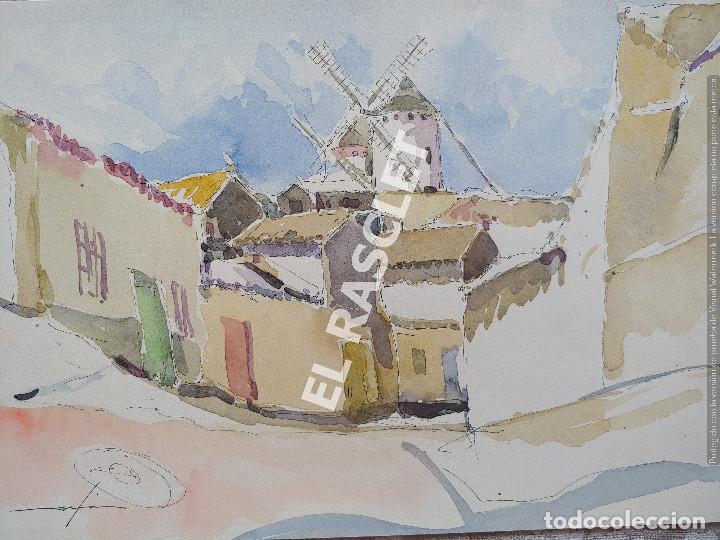 PINTURA ACURELA DE - LA MANCHA - JOSEP MARFA GUARRO DE BCN - SPAIN - (Arte - Pintura Directa del Autor)