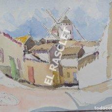 Arte: PINTURA ACURELA DE - LA MANCHA - JOSEP MARFA GUARRO DE BCN - SPAIN -. Lote 214371610