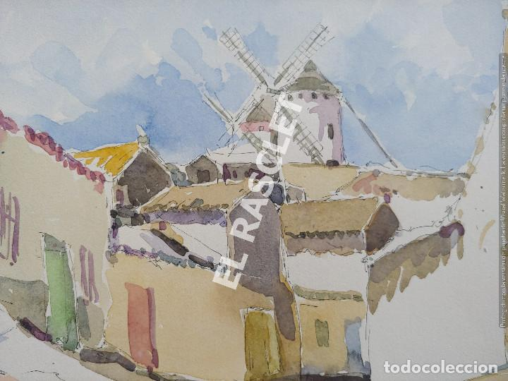 Arte: PINTURA ACURELA DE - LA MANCHA - JOSEP MARFA GUARRO DE BCN - SPAIN - - Foto 7 - 214371610
