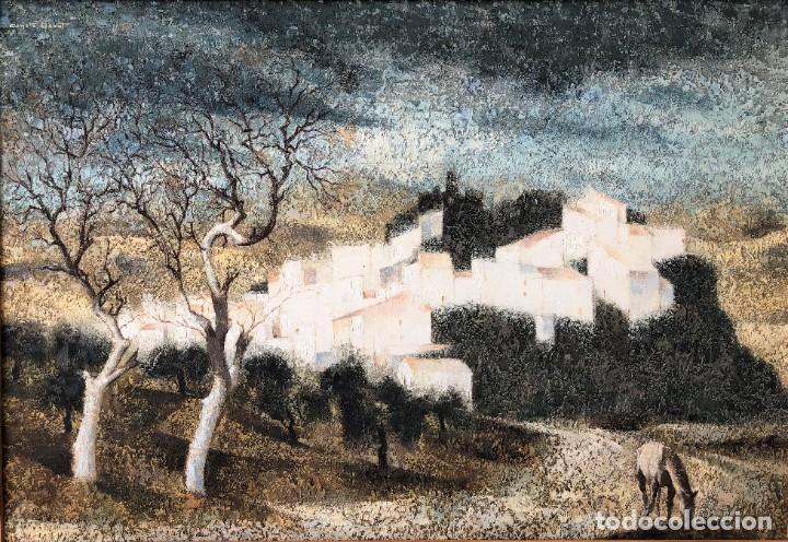 ANDALUCÍA: PUEBLO BLANCO POR JOAQUÍN CAÑETE BABOT (1933, JEREZ DE LA FRONTERA, CÁDIZ) (Arte - Pintura - Pintura al Óleo Moderna sin fecha definida)