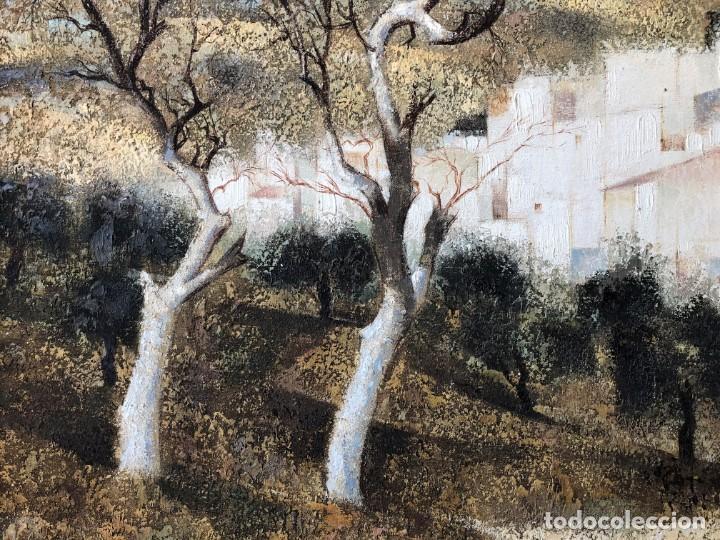 Arte: ANDALUCÍA: PUEBLO BLANCO por Joaquín Cañete Babot (1933, Jerez de la Frontera, Cádiz) - Foto 5 - 214376676