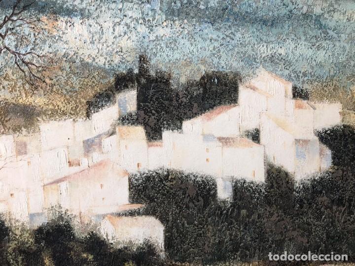 Arte: ANDALUCÍA: PUEBLO BLANCO por Joaquín Cañete Babot (1933, Jerez de la Frontera, Cádiz) - Foto 7 - 214376676