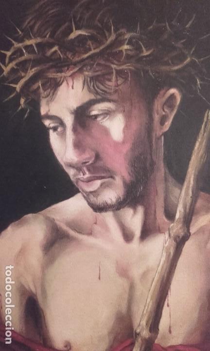 Arte: Curioso Ecce Homo adolescente / óleo sobre lienzo - Foto 2 - 260107475