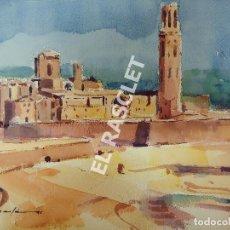Arte: PINTURA ACUARELA - LA SEU - LLEIDA - JOSEP MARFA GUARRO DE BCN -. Lote 214469010