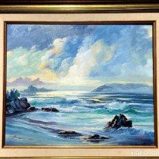 Arte: ÓLEO CON MARINA DEL PINTOR JOAN DURANY (POBLA DE SEGUR 1927). Lote 214469585