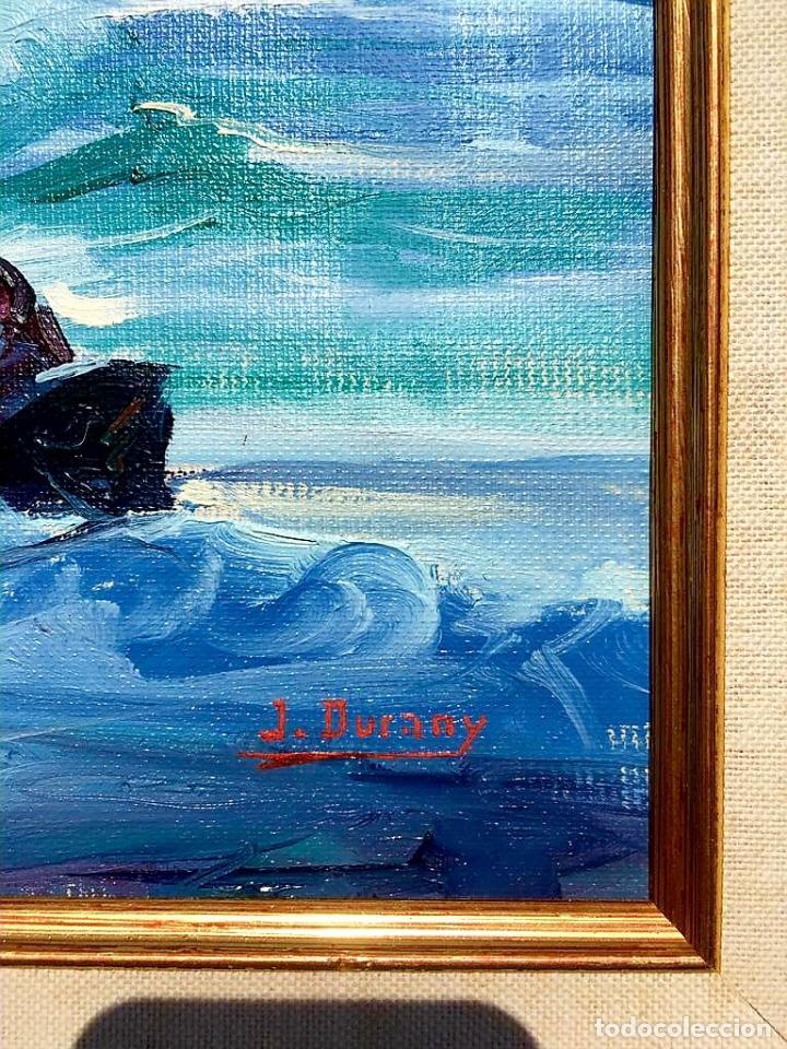 Arte: Óleo con Marina del pintor JOAN DURANY (Pobla de Segur 1927) - Foto 2 - 214469585