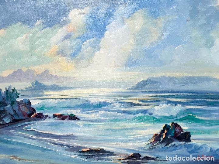 Arte: Óleo con Marina del pintor JOAN DURANY (Pobla de Segur 1927) - Foto 4 - 214469585