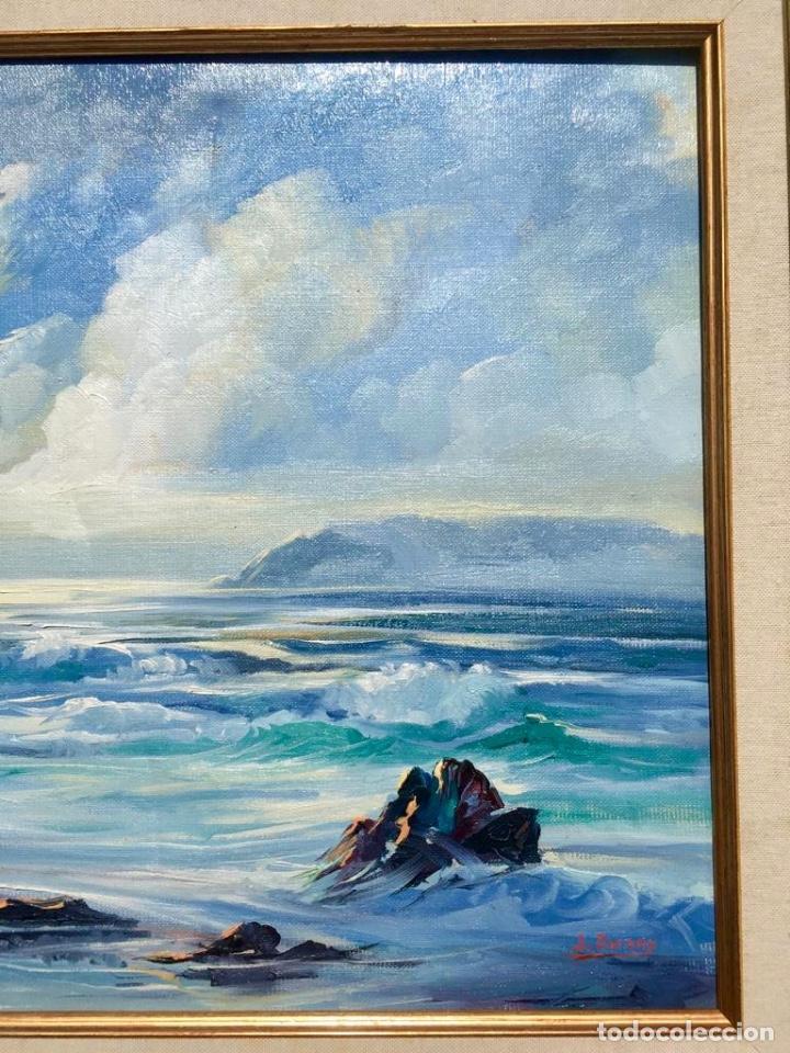Arte: Óleo con Marina del pintor JOAN DURANY (Pobla de Segur 1927) - Foto 5 - 214469585