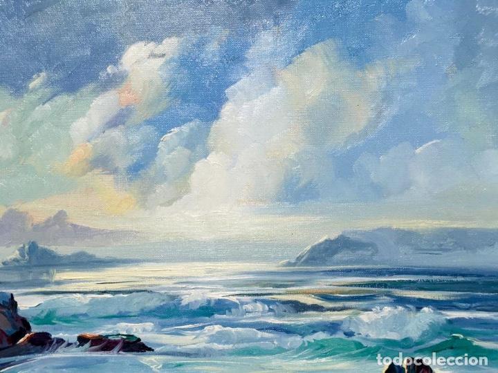 Arte: Óleo con Marina del pintor JOAN DURANY (Pobla de Segur 1927) - Foto 6 - 214469585