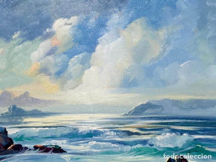 Arte: Óleo con Marina del pintor JOAN DURANY (Pobla de Segur 1927) - Foto 7 - 214469585