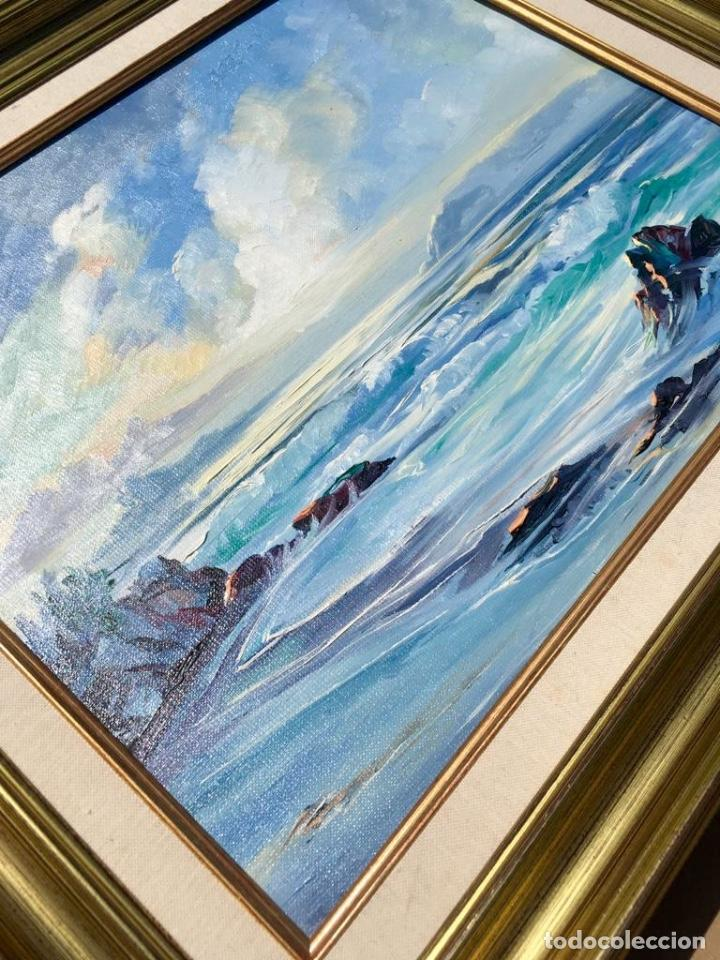 Arte: Óleo con Marina del pintor JOAN DURANY (Pobla de Segur 1927) - Foto 8 - 214469585