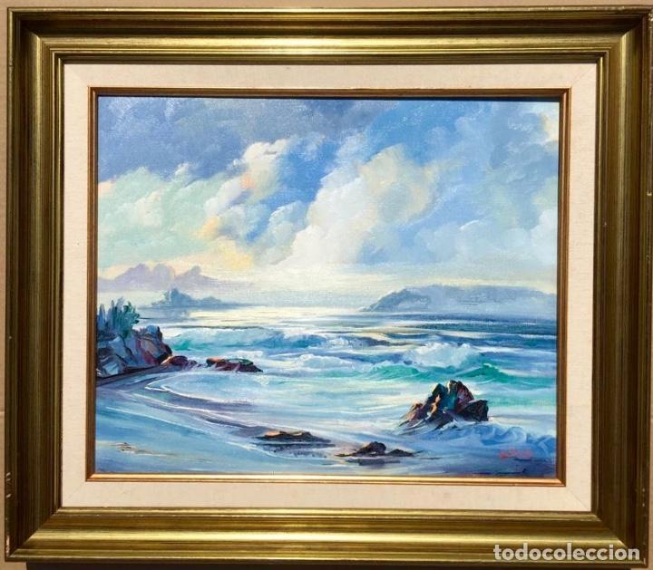 Arte: Óleo con Marina del pintor JOAN DURANY (Pobla de Segur 1927) - Foto 9 - 214469585