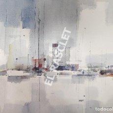 Arte: PINTURA ACUARELA - PORT - PUERTO - BCN - JOSEP MARFA GUARRO DE BCN - SPAIN -. Lote 214500156