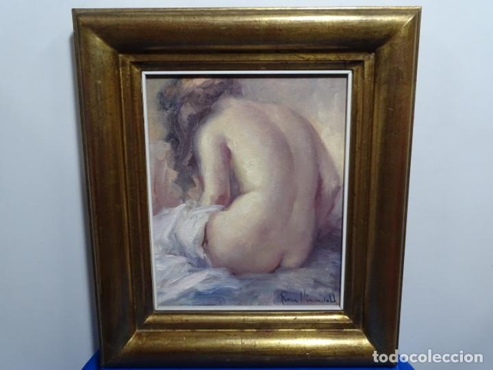 Arte: Óleo sobre tela de roser vinardell tolra.buen trazo. - Foto 2 - 214506107