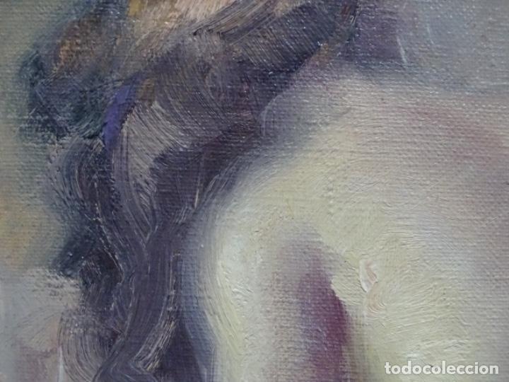 Arte: Óleo sobre tela de roser vinardell tolra.buen trazo. - Foto 5 - 214506107