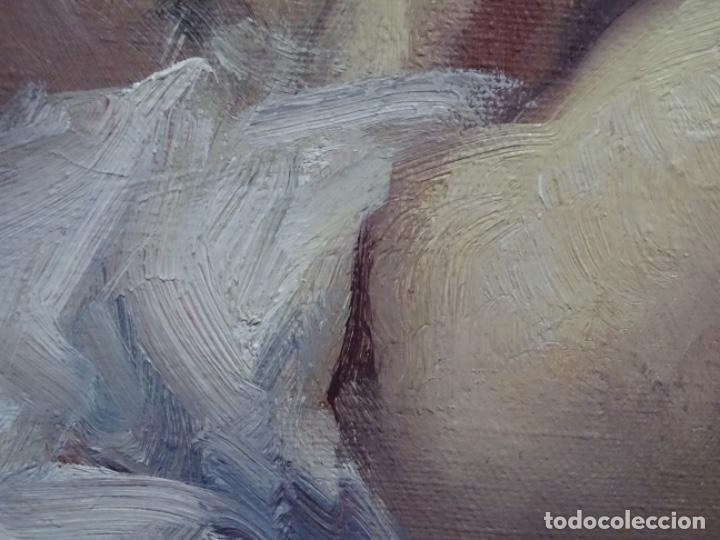 Arte: Óleo sobre tela de roser vinardell tolra.buen trazo. - Foto 7 - 214506107